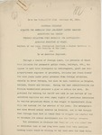 Memorandum on the American Loan to Honduras, February 26, 1911