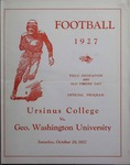 Ursinus College Official Football Program, Saturday, October 29, 1927 by Athletics Department
