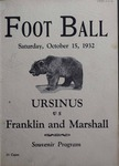Ursinus College Official Football Program, Saturday, October 15, 1932 by Varsity Club