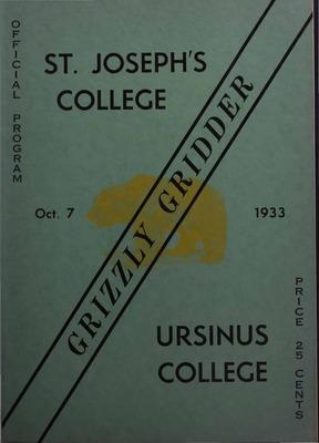 Ursinus College Souvenir Football Program Digital Archive ...