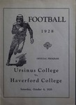 Ursinus College Official Football Program, Saturday, October 6, 1928 by Athletics Department