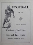 Ursinus College Official Football Program, Saturday, November 10, 1928