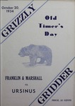 Grizzly Gridder Ursinus College Official Football Program, October 20, 1934