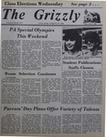 The Grizzly, April 2, 1982 by Melissa Hanlon, Karen L. Reese, Kenneth C. Taylor, Sara Ward, Duncan C. Atkins, Georgeann Fusco, Barbara A. Mathers, Edward Hovick, Jean Morrison, Joan Buehler, Timothy Cosgrave, and Joseph Granahan
