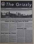 The Grizzly, October 15, 1982 by Gina Daviso, Mary Mulligan, Katie Cyr, Lorie Cramer, Pat Keenan, Brian E. Kelley, Martin Atreides, Richard P. Richter, Kenneth Behle, Jean Morrison, Scott Scheffler, and Paul Graeff