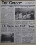 The Grizzly, September 15, 1989