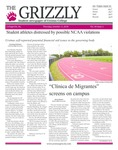 The Grizzly, October 11, 2018 by Courtney A. DuChene, Jenna Severa, Kim Corona, Madison Rodak, Sienna Coleman, Johnny Myers, William Wehrs, Sam Rosenthal, and Gabriela Howell