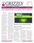 The Grizzly, October 25, 2018 by Courtney A. DuChene, Shelsea Deravil, Madison Rodak, Mark LeDuc, Kevin Leon, Sophia DiBattista, Daniel Walker, Gabriela Howell, and Sam Rosenthal