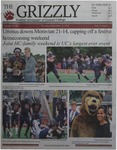The Grizzly, September 27, 2018 by Courtney A. DuChene, Kim Corona, Kevin Leon, Madison Rodak, Samuel Mamber, Claire Hughes, Daniel Walker, Shelsea Deravil, Gabriela Howell, Sam Rosenthal, and David Mendelsohn
