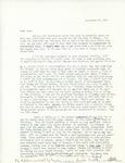 Letter from Linda Grace Hoyer to John Updike, September 30, 1950 by Linda Grace Hoyer