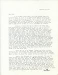 Letter from Linda Grace Hoyer to John Updike, September 28, 1950