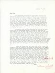 Letter from Linda Grace Hoyer to John Updike, September 27, 1950