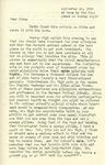 Letter from Linda Grace Hoyer to John Updike, September 24, 1950