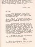 Letter from Linda Grace Hoyer to John Updike, October 3, 1950