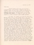 Letter from Linda Grace Hoyer to John Updike, October 25, 1950