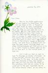 Letter from Linda Grace Hoyer to John Updike, October 31, 1950