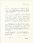Letter from Linda Grace Hoyer to John Updike, November 14, 1950