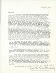Letter from Linda Grace Hoyer to John Updike, November 21, 1950