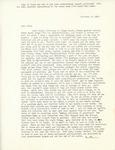 Letter from Linda Grace Hoyer to John Updike, November 29, 1950