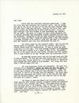 Letter from Linda Grace Hoyer to John Updike, January 15, 1951