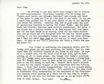 Letter from Linda Grace Hoyer to John Updike, January 22, 1951
