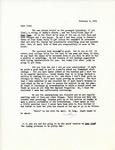 Letter from Linda Grace Hoyer to John Updike, February 2, 1951 by Linda Grace Hoyer