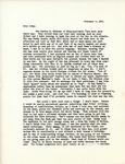 Letter from Linda Grace Hoyer to John Updike, February 4, 1951 by Linda Grace Hoyer