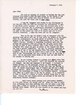 Letter from Linda Grace Hoyer to John Updike, February 7, 1951