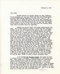 Letter from Linda Grace Hoyer to John Updike, February 9, 1951 by Linda Grace Hoyer