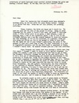 Letter from Linda Grace Hoyer to John Updike, February 13, 1951 by Linda Grace Hoyer