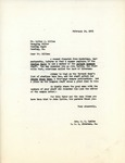 Letter from Linda Grace Hoyer to Walter S. Dillon, February 14, 1951