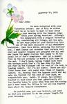 Letter from Linda Grace Hoyer to John Updike, February 15, 1951