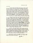 Letter from Linda Grace Hoyer to John Updike, February 21, 1951 by Linda Grace Hoyer