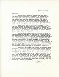 Letter from Linda Grace Hoyer to John Updike, February 23, 1951 by Linda Grace Hoyer