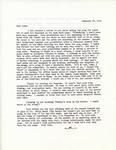 Letter from Linda Grace Hoyer to John Updike, February 26, 1951 by Linda Grace Hoyer
