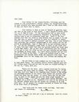 Letter from Linda Grace Hoyer to John Updike, February 27, 1951 by Linda Grace Hoyer
