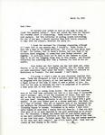 Letter from Linda Grace Hoyer to John Updike, March 12, 1951