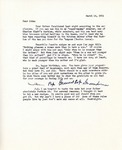 Letter from Linda Grace Hoyer to John Updike, March 14, 1951