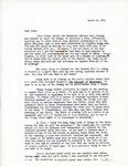 Letter from Linda Grace Hoyer to John Updike, March 19, 1951 by Linda Grace Hoyer