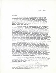 Letter from Linda Grace Hoyer to John Updike, April 9, 1951 by Linda Grace Hoyer