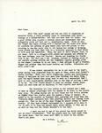 Letter from Linda Grace Hoyer to John Updike, April 16, 1951