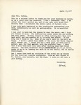Letter from Christopher Lasch to Linda Grace Hoyer, April 13, 1951 by Christopher Lasch