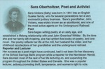 Sara Oberholtzer, Poet and Activist by The Mill at Anselma