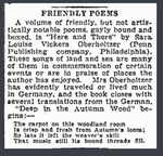 Friendly Poems