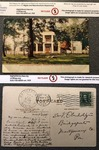Home of President Andrew Jackson, The Hermitage, Nashville- Postcard from Sara to Vickers by Sara Louisa Oberholtzer