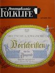 Pennsylvania Folklife Vol. 23, No. 1