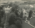 Aerial View of Freeland Hall and Bomberger Memorial Hall, 1959