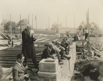 Laying the Cornerstone of Curtis Dormitory, 1927
