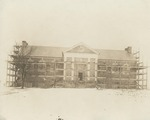 Construction of Alumni Memorial Library in Winter, Circa 1922
