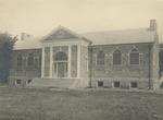 Front View of Alumni Memorial Library Under Construction, Circa 1922